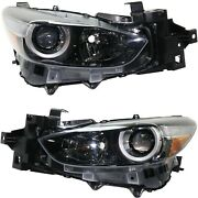 Headlight For 2017-2018 Mazda 3 Pair Lh And Rh Mexico Built
