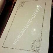 6and039x3and039 Italian Marble Top Table Mother Of Pearl Inlay Restaurant Decor E949b