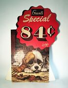 Vintage W.t. Grant Grants Big Eye Puppy Puzzle Store Display By Gig Not Keane