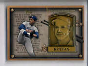 Sandy Koufax 2012 Topps Update Series Gold Hall Of Fame Plaque Aj2133