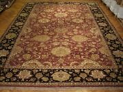 12and039 X 17and039 Jaipur Maroon Durable Fine Quality Handmade Indian Wool Rug