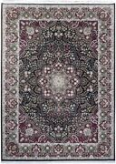 Black Classic Sino Wool And Silk Delightful Hand-knotted Rug 9x12 Rug
