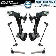 Steering And Suspension Kit Control Arms Ball Joints Sway Links Tie Rods 6pc New