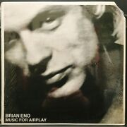 Brian Eno Music For Airplay Usa 1981 White Label Promo Only Lp In Shrink Prog