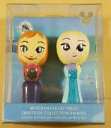 D23 2017 Expo Disney Store Frozen Elsa And Anna Wooden Collectibles Limited Le 300