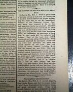 Jesse James Younger Brothers Gang Gads Hill Missouri Train Robbery1874 Newspaper