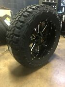 20x9 Ion 141 35 Mt Black Wheel And Tire Package 8x6.5 Dodge Ram 2500 3500 Tpms