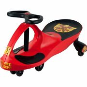 Twister Swivel Red Rescue Firefighter Wiggle Ride On Car Roller Coaster Style