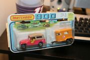1978 Matchbox 900-twin Pack-red -pink Jeep Cj6 And Horse/pony Trailer-tp3-lesney