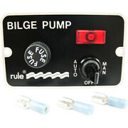 Rule 41 Bilge Pump Panel Switch With Light Auto/off/manual 3-way Toggle Switch