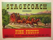 Wholesale Lot Of 25 Old Vintage - Stagecoach - Fruit Labels - Western - Red