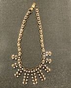 J Crew Vintage Antique Goldtone Rhinestone Necklaces 2 Andnbsp- For Bff Or Sisters