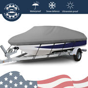 20-22ft Waterproof Boat Cover Trailer For V-hull Fishing Bass Boats Beam 100and039and039