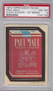 1973 Topps Wacky Packages Cloth Paul Maul Psa 6 Exmt Series 1 Packs Tough 1/3