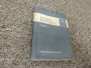 1968-1969 Mercedes Benz 280sl Roadster Pagoda Maintenance Specifications Manual