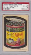 1973 Topps Wacky Packages Cloth Chock Full Oand039 Bolts Psa 6 Ex/mt Series 1 Packs