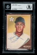 Johnny Weekly 1962 Topps 204 Signed Bas Extremely Rare Autographed Baseball Card