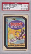 1973 Topps Wacky Packages Cloth Duznand039t Detergent Psa 6 Ex/mt Series 1 Packs