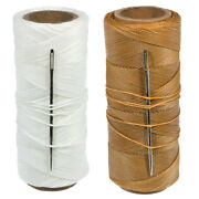 Waxed Polyester Sail Twine With Needle - 270 Foot Spool Of 2 Oz Canvas String
