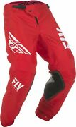 Fly Racing 2019 Kinetic Shield Mx Motorcross Off Road Youth Pant Red / White