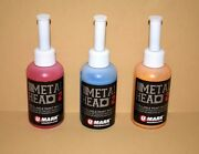 3 Metal Head Paint Marker 2 Oz Red Yellow Blue Metal Marking Auto Salvage Craft