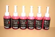 6 Metal Head Paint Markers 2 Oz Red Auto Salvage Industrial Junk Yard Crafts