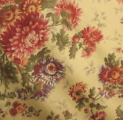 10 Yds Kravet Couture Cameron Floral 100 Cotton Sateen Drapery Multi-use Fabric