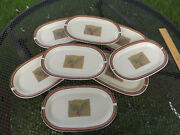 Pfaltzgraff Holiday Spice 8 Oval Plates Dessert Hors Dand039oeuvres Usa Holly Berries