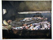 Andrew Wyeth Gravure Print Cooling Shed Garret Room Chadds Ford Black Americana