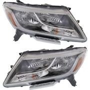 Headlight Set For 2013-2016 Nissan Pathfinder Left And Right With Bulb 2pc