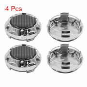 4 Pcs Silver Tone 64mm Dia 4 Clips Wheel Tyre Center Hub Caps Cover For Car