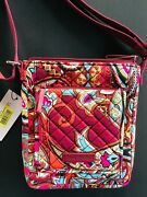 New Iconic Mini Hipster Regal Paisley Vera Bradley Red 48