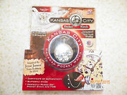 New Kansas City Railroad Pocketwatch With 26 Chain And Fob Battery Operated