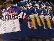 1990 Chicago Bears Football Schedule Stand Up Lot Of 7