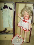 Ideal Shirley Temple 13 Compo. Doll Two Orig. Tagged Outfits Pin Wig And Trunk