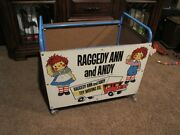 Vintage Raggedy Ann And Andy Toy Cart With Wheels The Bob Merrill Co. 25x22x17