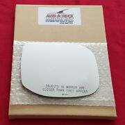 Mirror Glass + Adhesive For 09-14 Acura Tsx Passenger Side Replacement-heated