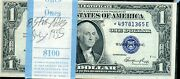 1935 E One Dollar Pack Silver Certificate 8 Star Notes Unc
