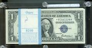 1935f One Dollar Pack Silver Certificate With Six Star Notes Unc
