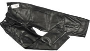 New Versace Couture Vintage 90and039s Leather Pants E 52 33 X 31 Elastic Waist