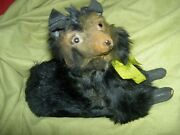 Charming Antique, Lowchen Fur Dog Candy Container W/glass Eyes For Fashion Doll