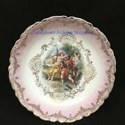 Gorgeous Antique Bowl P.m. B. Royal Bavarian China Germany Nike Warrior And Putto