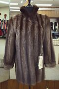 Clearance Natural Letout Raccoon Fur 33andrdquo Jacket Size 4/6