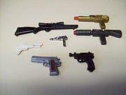 Vintage Action Figures Toy Doll Guns Plastic Collectibles Pistols Lasers