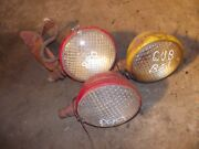 3 Farmall Cub Low Boy Tractor Orgnal Nonwork Front And Rear Head Lights And Bracket