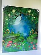 Led Light Up Outdoor Picture All Weather Art Canvas Timer 20 X 24 Twinkle Trail
