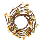 Factory Direct Craft Small Yellow Green Pip Berry Rings   6 Candle Rings In