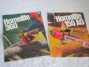 Vintage Chainsaw Advertising Brochures Homelite 150 Ao And 360