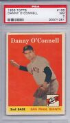 1958 Topps 166 Danny O'connell Psa 7