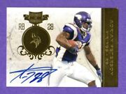 Adrian Peterson 2011 Plates And Patches Gold Autograph Auto Sp 5 / 5 Vikings